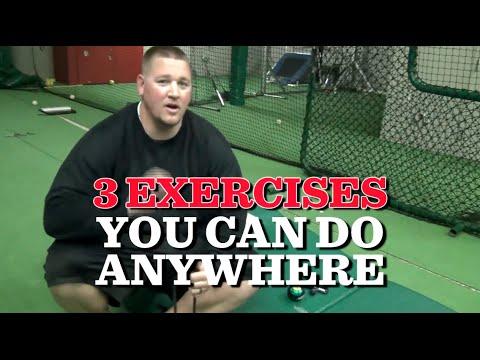 3 baseball exercises you can do ANYWHERE