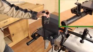 getlinkyoutube.com-Mühelos Löcher, Langlöcher in Holz bohren und stemmen mit der Langlochbohrmaschine LBM200