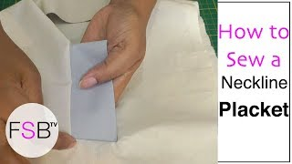 getlinkyoutube.com-Sewing a Neckline Placket