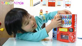 getlinkyoutube.com-Anpanman Vending Machine Paper Craft Toy Kid Review