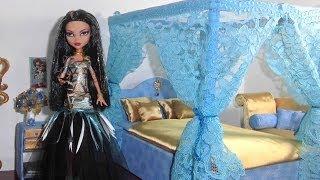 getlinkyoutube.com-Como fazer cama para boneca Monster High Cleo de Nile e Draculaura