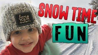 getlinkyoutube.com-HUGE SNOWBALL FIGHT DAD VS. KIDS