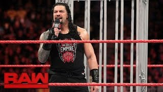 getlinkyoutube.com-Roman Reigns gets his U.S. Title rematch: Raw, Jan. 23, 2017