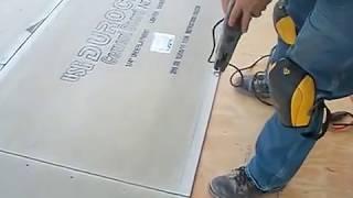 getlinkyoutube.com-How to install backer board/durock for floor tile