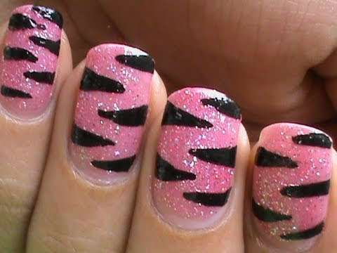 Pink Tiger Nail Art Designs Easy Youtube Do It Yourself Nails Step By Step How To Do Nails Art