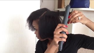 getlinkyoutube.com-.::Natural Hair::Flat Iron Routine (Blow Drying)
