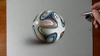 getlinkyoutube.com-Drawing Time Lapse: Brazuca ball - hyperrealistic art
