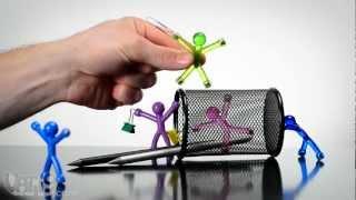 getlinkyoutube.com-Translucent Q-Man Flexible Mini Magnets
