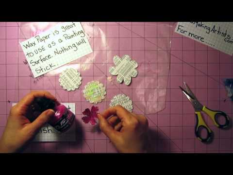 Handmade Card Tutorial - Paper Flower Card