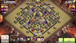 getlinkyoutube.com-Clash of Clans: Gowiwi TH9 3 Star War Strategy (Part 3:  Advanced Tactics)