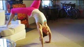 getlinkyoutube.com-How To Do A Bridge And Backbend Kickover With Coach Meggin (Professional Gymnastics Coach)
