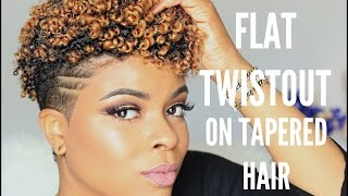 getlinkyoutube.com-Natural Hair | Flat Twists on Tapered Cut
