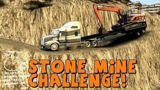 getlinkyoutube.com-Spin Tires Kenworth T660 vs Stonemine Towing Challenge