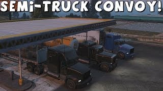 getlinkyoutube.com-Grand Theft Auto 5 | Semi-Truck Convoy | Part 1