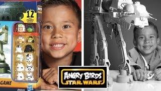 getlinkyoutube.com-ANGRY BIRDS STAR WARS TOYS!  AT-AT Attack Battle Game + BONUS: Vintage AT-AT Review