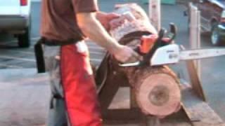 getlinkyoutube.com-The chainsaw guy log testing Stihl MS 170