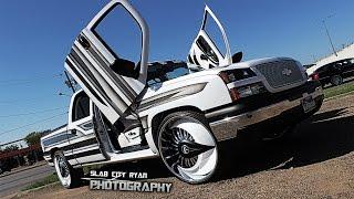 "getlinkyoutube.com-Triple D Boyz Chevy Silverado on 28"" DUB Skirts | Omars Wheels -"