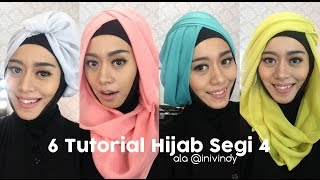 getlinkyoutube.com-6 Tutorial Hijab Segi Empat Praktis Bahan Paris ( Bahasa Jawa )
