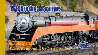 getlinkyoutube.com-HO Scale Southern Pacific 4449 4-8-4 Steam Locomotive Broadway Limited Product Review