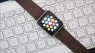 getlinkyoutube.com-Apple Watch 3rd Party Brown Leather Band Review!