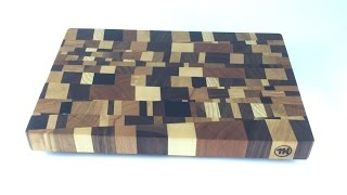 getlinkyoutube.com-chaotic end grain cutting board - Schneidbrett Kopfholz - chaotisch - DIY - Helmchen