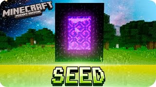 getlinkyoutube.com-Minecraft PE Seeds - EASIEST NETHER PORTAL SEED - MCPE 1.0 - 0.12.0