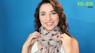 getlinkyoutube.com-Como hacer nudos para bufandas, pashminas y fulares