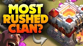 "getlinkyoutube.com-Clash of Clans: ""WHOLE CLAN IS RUSHED?"" TOP WEIRDEST WAR OF ALL TIME"