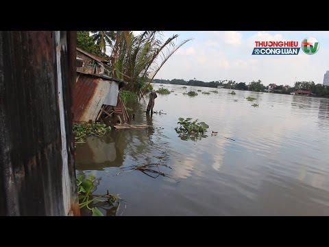 Người dân ven sông khốn khổ vì nước dâng cao
