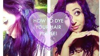 getlinkyoutube.com-How I dyed my hair bright purple!