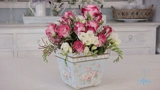 getlinkyoutube.com-Simple Rose Arrangement Floristry Tutorial