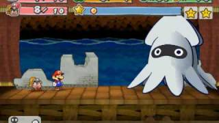 getlinkyoutube.com-Paper Mario:La Puerta Milenaria Boss 1: Blooper