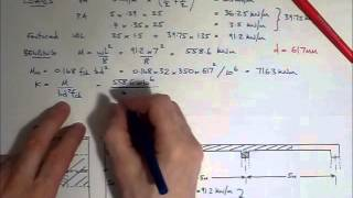 RC Beam Design EC2 - Worked example - main reinforcement