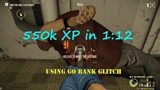 getlinkyoutube.com-Payday 2 solo farming grinding 550k XP in 1m12s using Go bank glitch