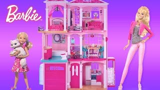 getlinkyoutube.com-Barbie Dreamhouse 2015 Unboxing Assembly and Full House Tour | TheChildhoodLife