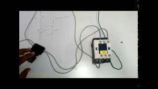 getlinkyoutube.com-1. DOL (Direct on line) starter of three phase motor using a contactor and NO & NC push buttons