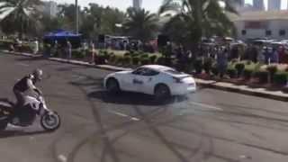 getlinkyoutube.com-Stock Nissan 370Z Drifting at the Red Bull Showrun in Kuwait