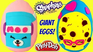 getlinkyoutube.com-SHOPKINS Play Doh Egg Surprise Compilation Show! MIlk Bud & Candy Cookie!