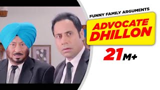 Punjabi Comedy 1 | Carry On Jatta - Advocate Dhillon Funny Family Arguments | Comedy Scene width=