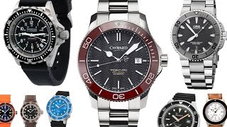 5 Best Swiss Divers Under $1000, Oris Aquis, Marathon, Glycine Combat Sub, CWard C60, Squale 1521 width=