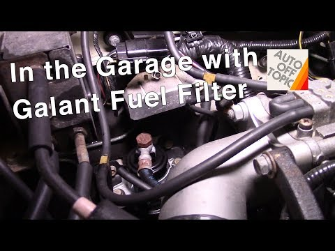 Galant VR4 fuel filter how to: In the Garage