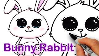 getlinkyoutube.com-How to Draw a Cute Bunny Rabbit Easy
