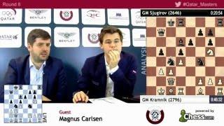 getlinkyoutube.com-Magnus Carlsen beats Shakhriyar Mamedyarov, rd8 post game analysis - Qatar Masters Open 2015