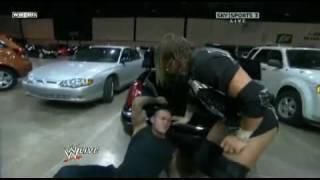 getlinkyoutube.com-WWE Raw 6/22/09 - Triple H attacks Randy Orton