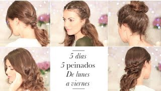 getlinkyoutube.com-5 peinados faciles : De lunes a viernes para ir a clase o al trabajo