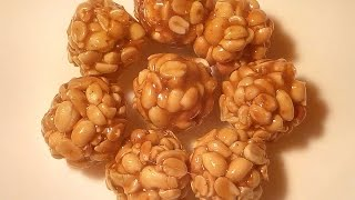 getlinkyoutube.com-Peanut chikki ball - verusanaga mudda
