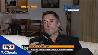 """getlinkyoutube.com-Gabriel Batistuta: """"Pedí que me cortaran las piernas"""""""