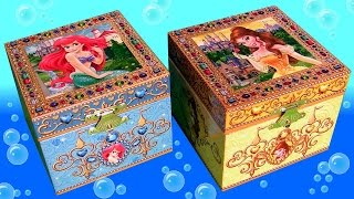 getlinkyoutube.com-Music Box Surprise Princess Ariel the Little Mermaid and Princess Belle Beauty and the Beast