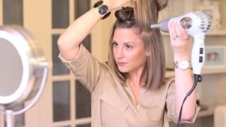 getlinkyoutube.com-Blow-Dry Short Hair Straight (with Volume!)