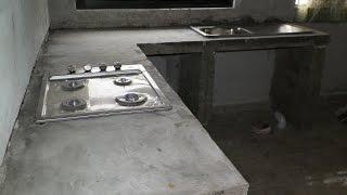 getlinkyoutube.com-barra de cocina, de cemento, empotrada. remodelacion de cocina.